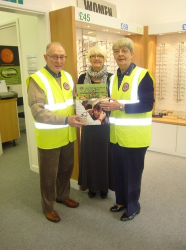 We collect all old frames & glasses to give to charity.