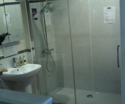 Bath Replacement - Using Shower Wall Panels To Match Existing Tiles