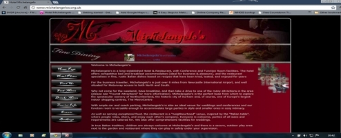 Michelangelos Website Designed By Jck creations Ltd
