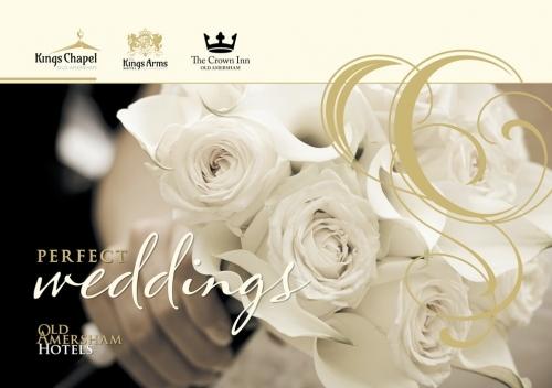 Old Amersham Hotels Wedding Brochure. Design, Artwork & Print