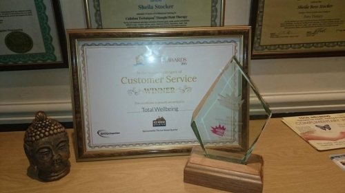 We are proud winners of a Customer Service Award 2014