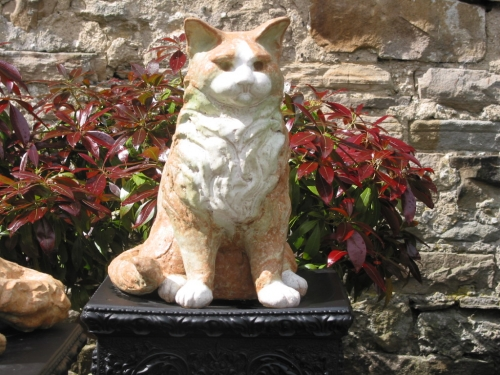 Long Haired Cat Sculpture
