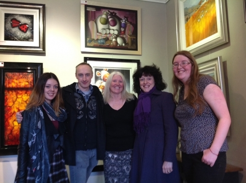 Peter and Jayne Smith visit The Little Red Gallery