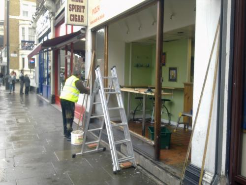 Shop windows replaced