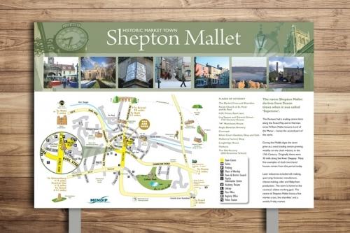 Shepton Mallet Countryside Interpretation Map Panel