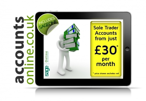 Sole Trader accounts from just £30 pm from Internet Accountants