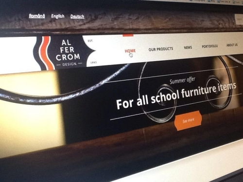 Web site developed on Wordpress platform [wordpress.org] for a firm producing and retailing urban street furniture.