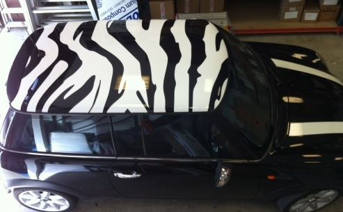 Mini Roof Graphics and bonnet stripes