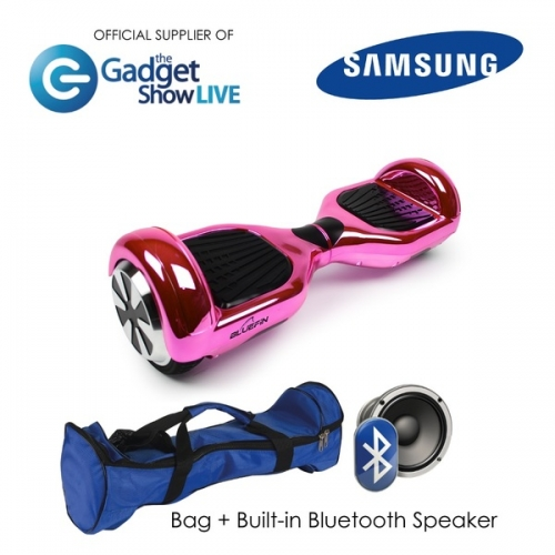 6.5 INCH CLASSIC HOVERBOARD SWEGWAY IN CHROME PINK