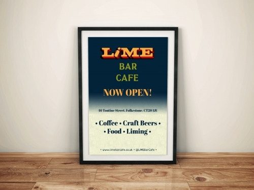Lime Bar Cafe Flyer