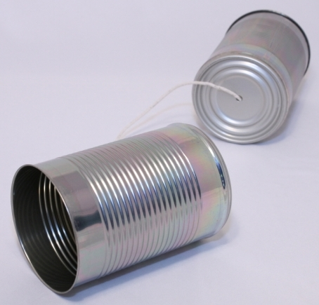 Novelty Tin Can String Phone