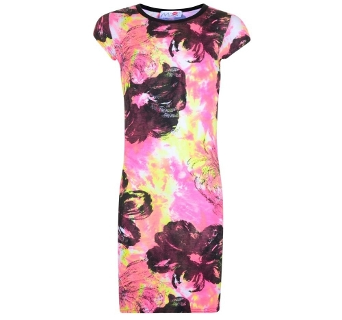 Wholesale Clothing - Painting Flower Print Midi Dress