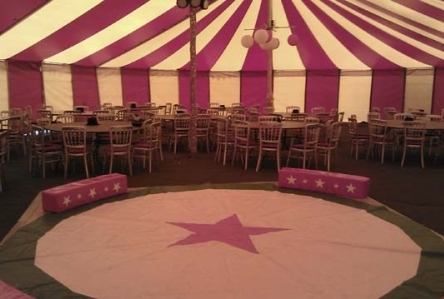 Circus Theme Party Tent hire devon cornwall somerset