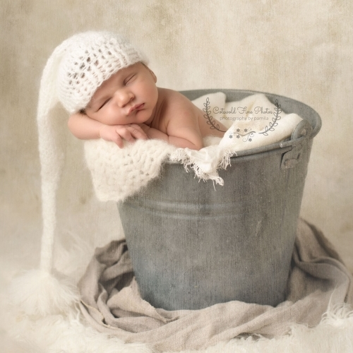 How Cute can a Baby in a Bucket be?