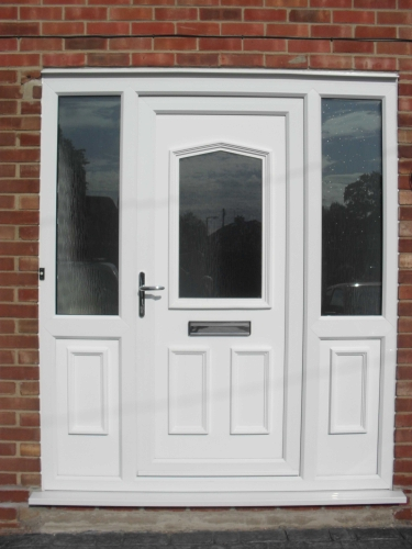 Ian saunders upvc windows doors joinery double glazing for White upvc french doors with side panels