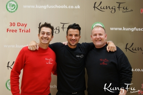 Master Paul Hawkes, Peter Andre and Sifu Alan Paterson