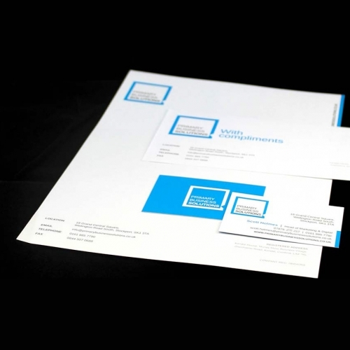 Corporate Identity and Stationery Design: Primary Business Solutions