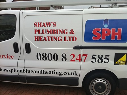 Shaws Plumbing And Heating Van