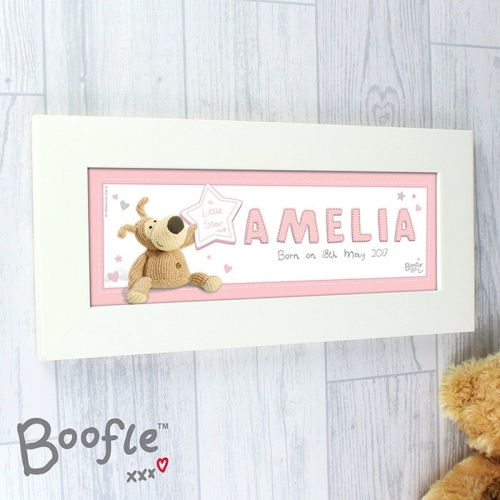 Personalised its a girl Boofle name frame.