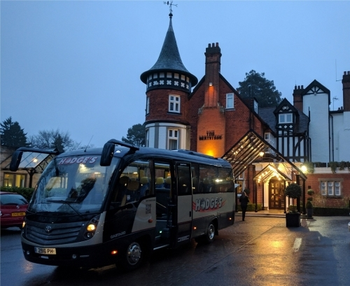 An early morning pickups for some VIPs in our luxury 22 seater coach.