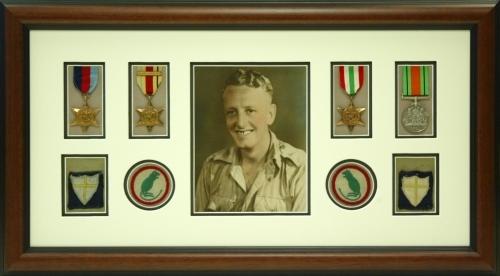 War medal framing