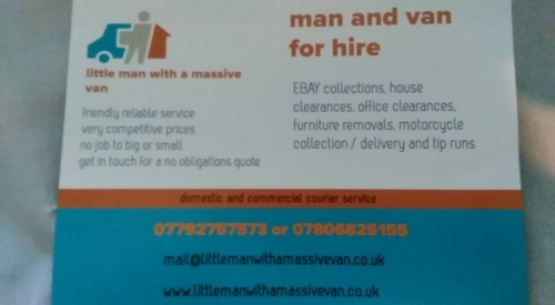 Man and Van, Removals, Clearances, Home, Office, Garden, Courier, Same Day, Next Day, Stafford, Staffordshire