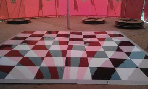 black and white dance floor hire devon