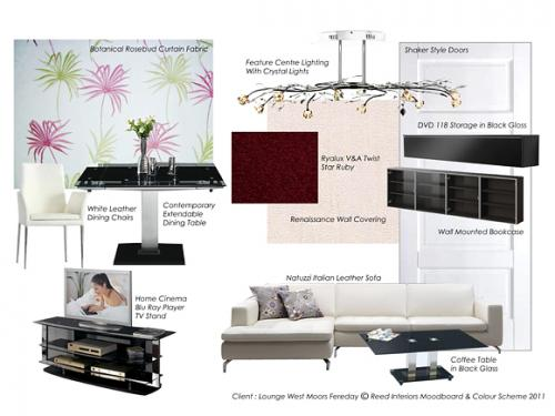 Modern Living Room Design Moodboard by Reed Interiors