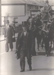 Ggrea tgrandfather Willam Rowland conducting a funeral in 1923