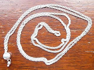 Long Chain Charm Bead Pendant