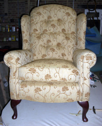 Wing arm chair after