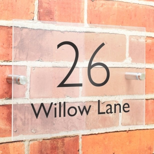 Personalised modern house sign.