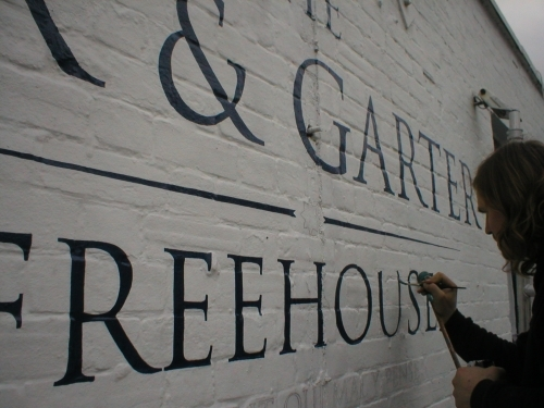 Traditional Pub Signwriting on Brickwork