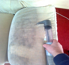 Upholstery cleaning see the difference.