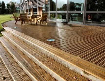 Commerical decking: pressure treated softwood timber