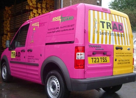 Vehicle Graphics to Trad safety systems van