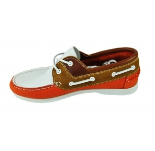 Second Tread Footwear Leather And Suede Boat Shoe