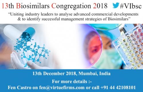 13th Biosimilars Congregation 2018