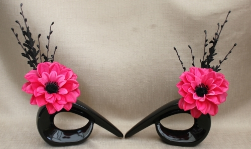 Artificial Flowers Pink And Black
