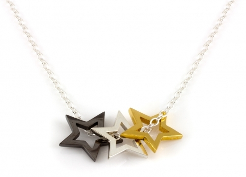 Written Multi Star Necklace by Laura Gravestock