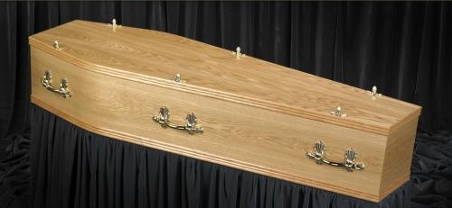 Light Oak Veneer coffin