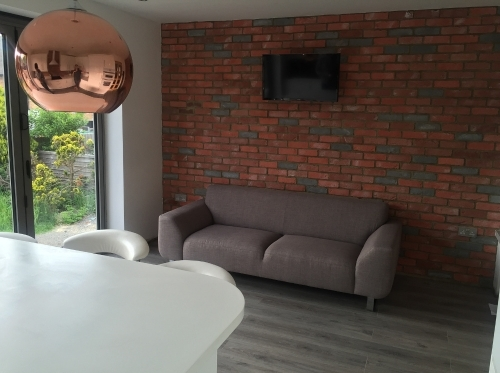 Premier Red & Grey Brick Cladding - Used For Internal Feature Wall