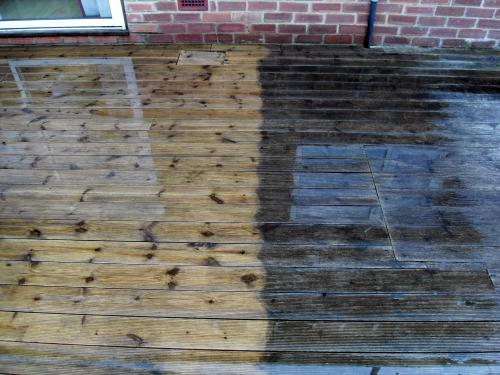 Decking Clean Before and After