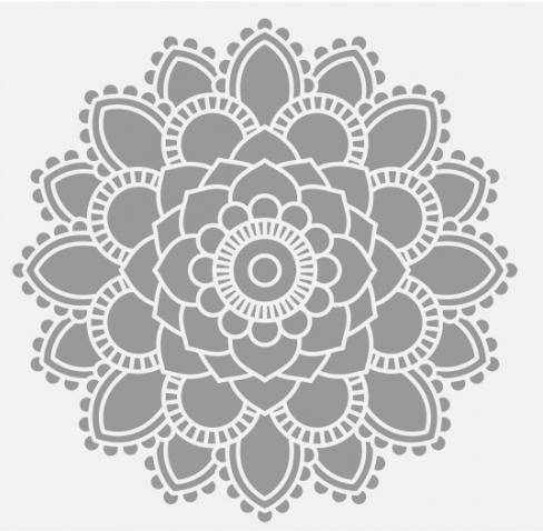 Mandala Mid Grey Wall Sticker Vinyl Decal Wall Art