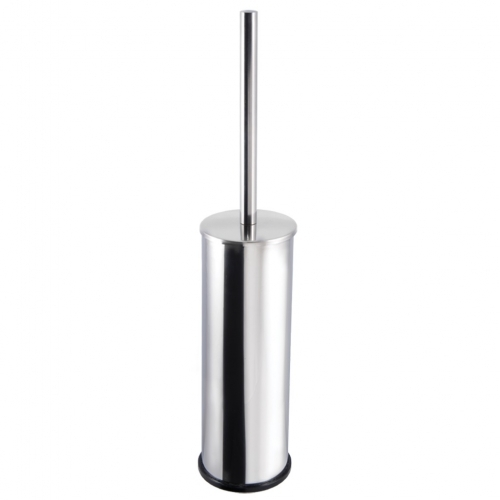 Toilet Brush And Holder Lux - Stainless Steel, Black brush, High Quality