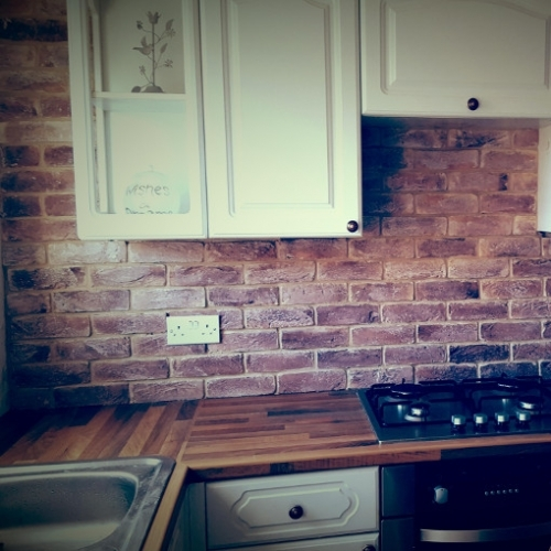 Coastal Calm Brick Bricks Used For Kitchen Splashback
