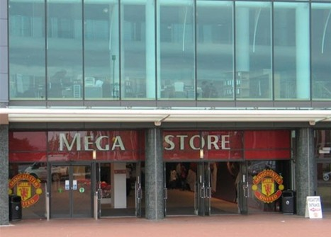 Neon Letters at Manchester United Mega Stores