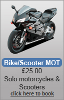 From the smallest bikes too real big ones price remains at £25 as a Solo (without sidecar)