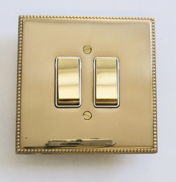 Brass, chrome and stainless steel electrical switch plates