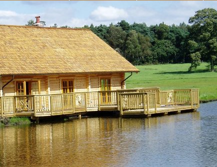 Waterside decking: pressure treated softwood timber